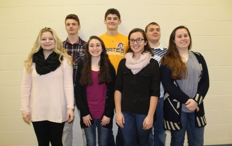 B-A is sending seven students to District chorus.  Pictured here are, front row (l to r): Emily Hoover, Amanda Albright, Hannah Hornberger, and Kyra Woomer. Back row (l to r): Luke Hollingshead, Robert VanKirk, and Michael Yon.