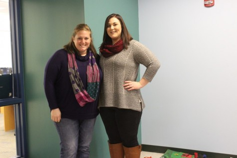 Mrs. Claybaugh and Mrs. Craine are two of the teachers at Myers who wore jeans today toraise money for congenital heart disease.