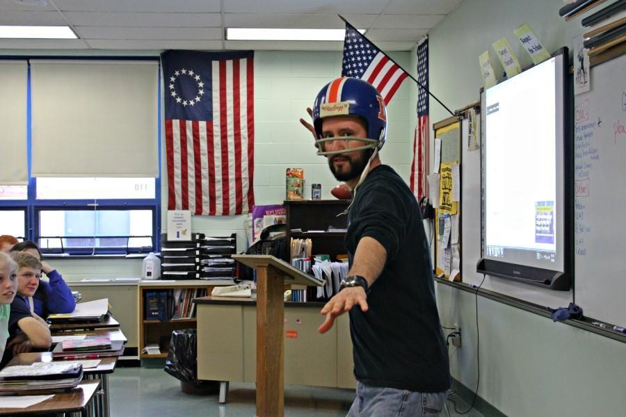 History teacher Mr. McNaul has been a Bronco's fan since their throwback helmets were their weekly Sunday gear.