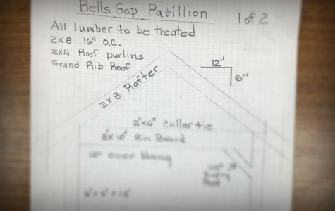 Trentpon Gonder has already designed plans for a pavilion at Rails to Trails as part of his Eagle Scout Project,