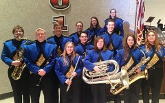 Bellwood-Antis sent  12 students to County Band in Tyrone. They were, front row (l to r): Amanda Baldwin, Laura Hall, Katie Hamer, and Angela Young; middle row (l to r): Noah Maceno, Revel Southwell, and Nick Perry; back row (l to r): Logan Morrison, Matthew Perry,  Ali McCaulley, Kaitlyn Farber, and Brande Robison.  Missing are Tyler Frye and Amanda Albright.