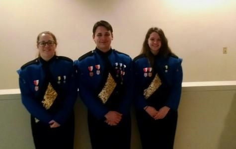 Kyra Woomer, Revel Southwell, and Kaite Hamer look good at Honors Band