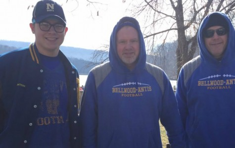 2016 graduate Cameron Nagle, Mr. Burch, and Mr. Schreier were all on hand for the Polar Bear Plunge Challenge last year.
