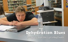 Sawyer Kline would like to relieve his thirst, but school policy says no water bottles in school.