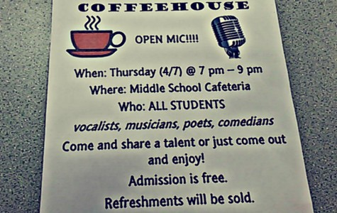 Coffee House to be held in April