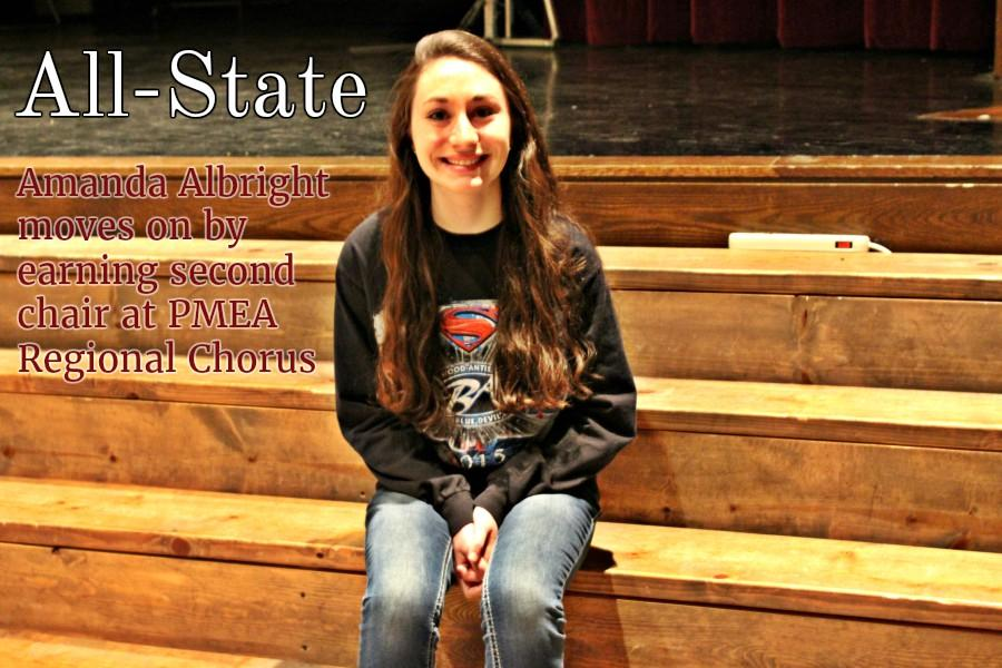 Amanda Albright became Bellwood-Antis' first All-State Chorus honoree in four years,
