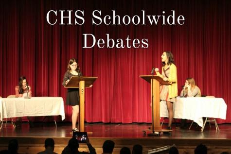 Kerri Little and Kala Wooten went head to head in the schoolwide debates.
