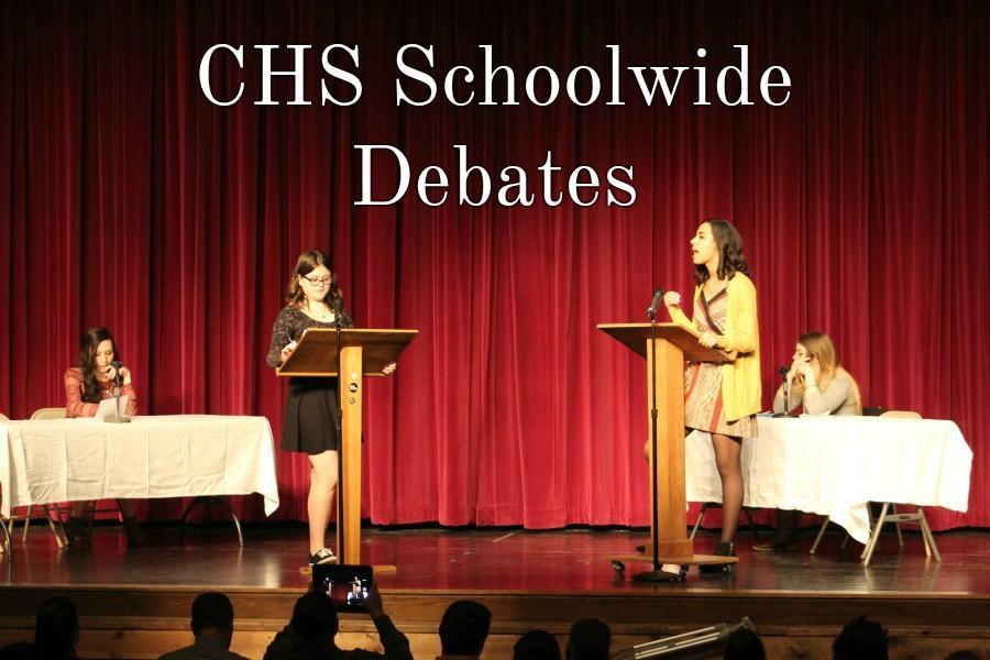 Kerri+Little+and+Kala+Wooten+went+head+to+head+in+the+schoolwide+debates.