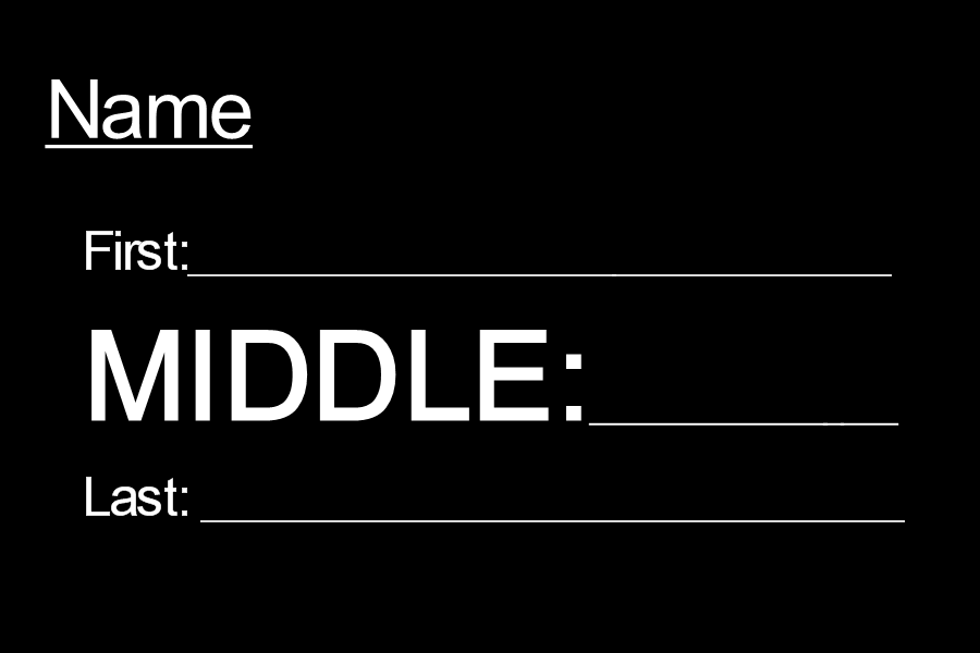 How important is your middle name?