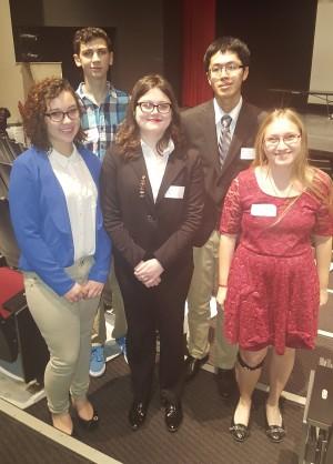 Hannah Hornberger, Quintin Nelson, Kerri Little, Devon Zheng, and Amanda Baldwin represented Bellwood-Antis at Region 3 PJAS.