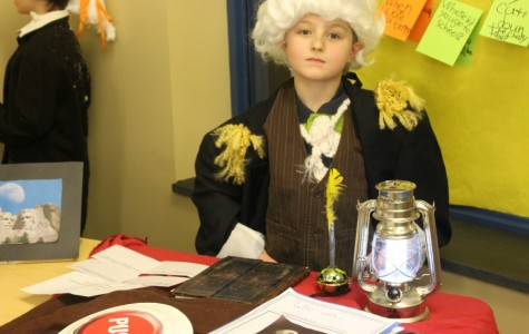 Students at Myers recently hosted a wax museum, where students immersed themselves in a history project. It was one example of  project-based learning.