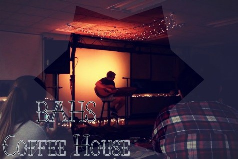 Ryen Beam performing a song by Green Day at the Coffee House.