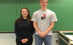 Hannah Klesius and Nathan Davis recently received awards from the Pa. Press Club.