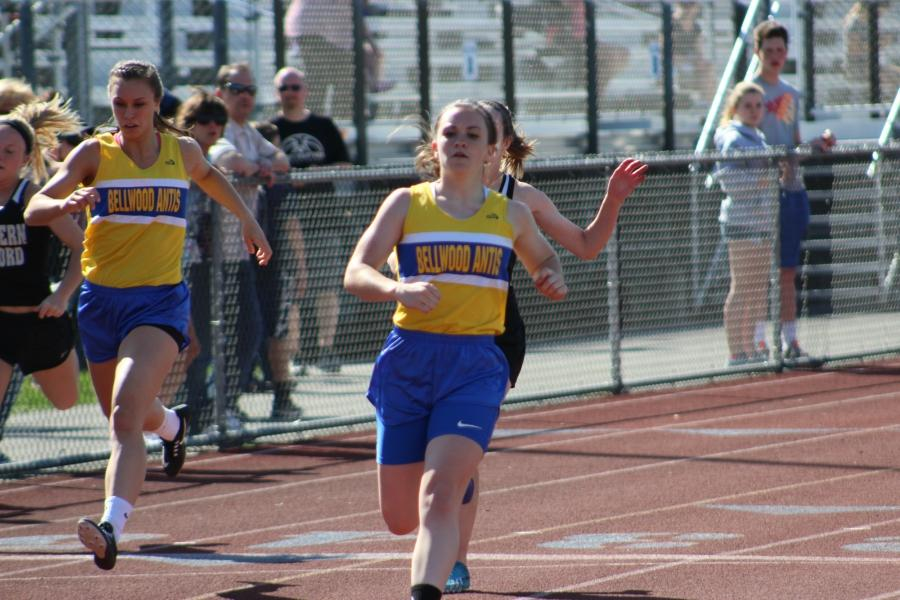 Marissa Panasiti finishes up first in the 100
