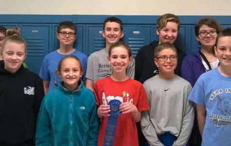 Middle school readers place first