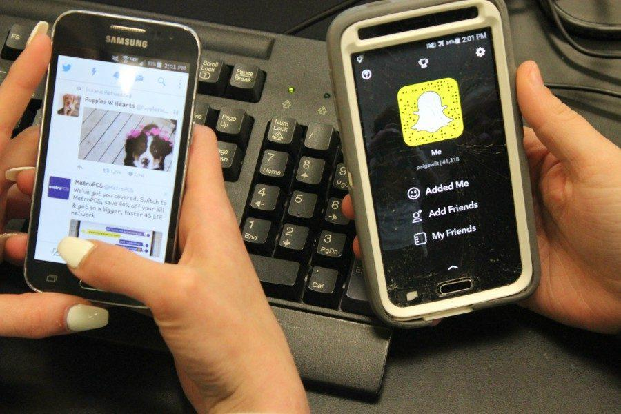 Snapchat and Twitter are very popular apps among students at BAHS.