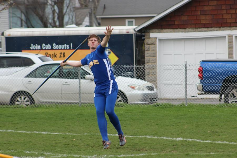 Jarrett Taneyhill placed fourth in  the javelin at the Igloo Invitational.