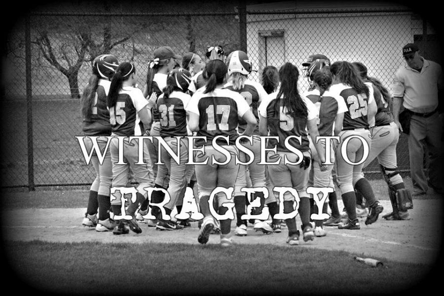 The softball team was warming up Tuesday in Williamsburg near the scene of a fatal car accident.