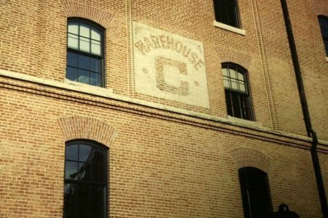 The B&O Warehouse beyond the right field wall is one of the defining features of Camden Yards.