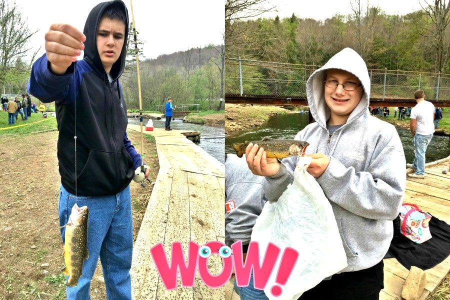 Cole Poorman and Richard Long each had a nice catch last week on a class trip to Glendale.