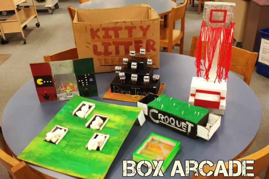 A few of the projects done by students  for the arcade