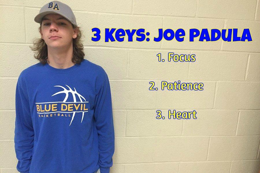 1st Baseman Joe Padula gives his 3 keys to a victory.