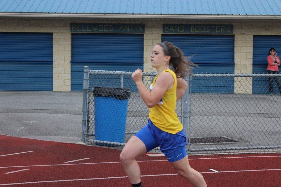 Marissa Panasiti had a big day Friday, winning the girls AA 400 meters at the West Central Coaches Meet.