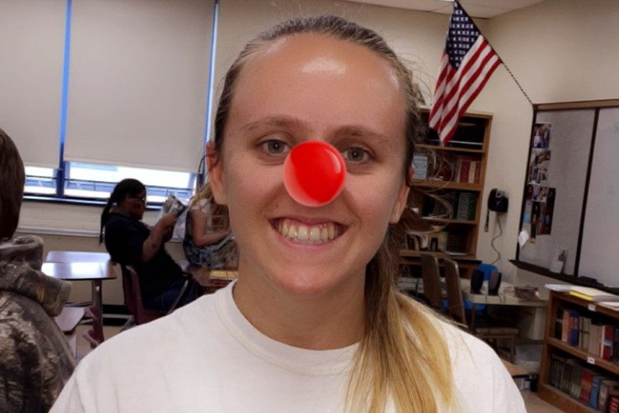 Kara Engle got in the Red Nose Day spirit with one of the official filters on Snapchat.