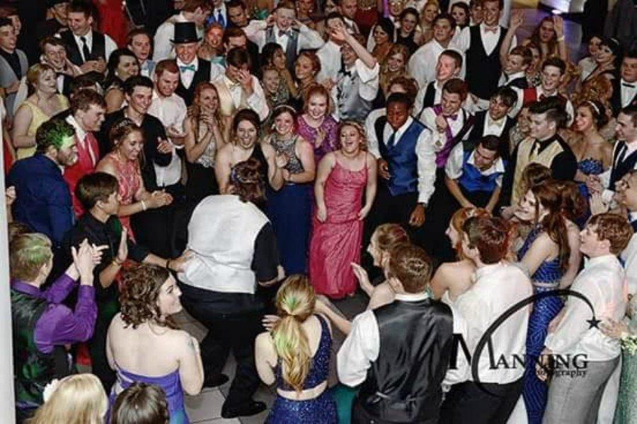 Everyone was out on the dance floor all throughout prom