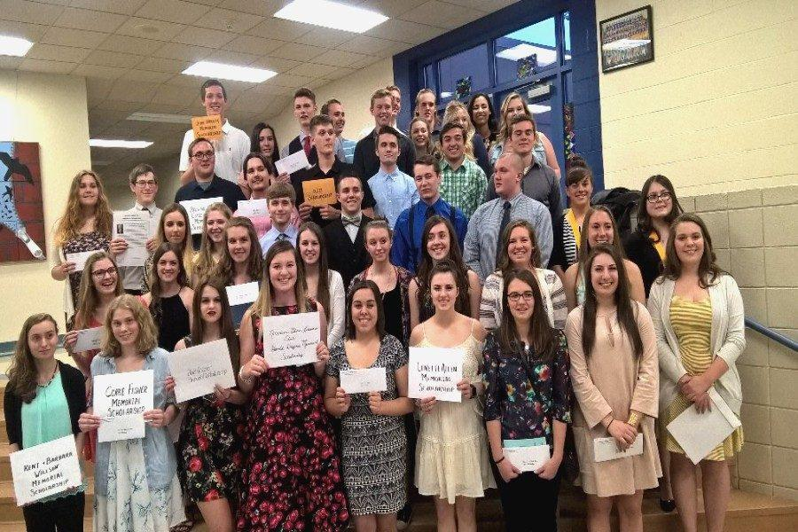 B-A seniors were all smiles about their scholarships.