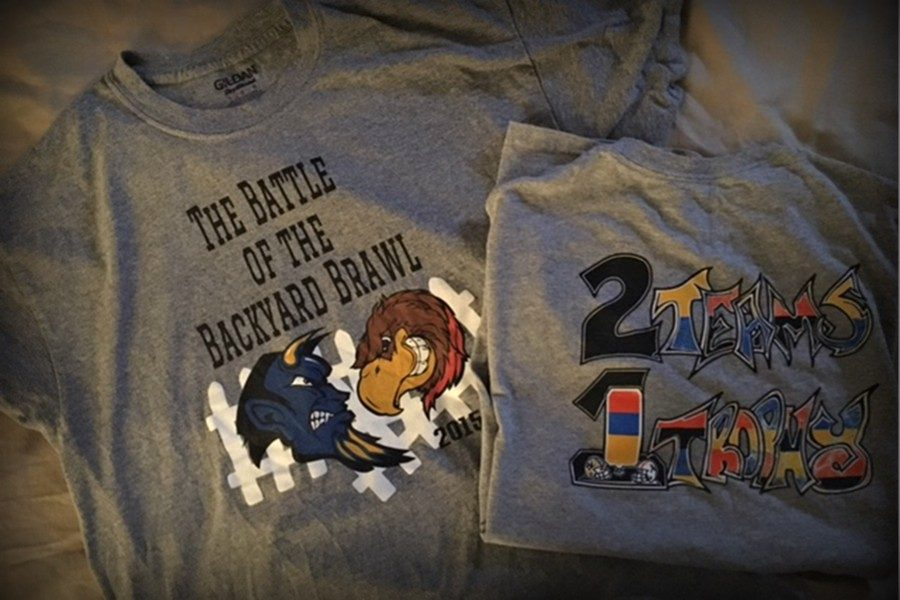 The annual Backyard Brawl t-shirt design contest is back this year, starting on May 11.