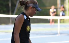 Junior Tina Hollen continued to win on the tennis court for the Tyrone/B-A co-op team.