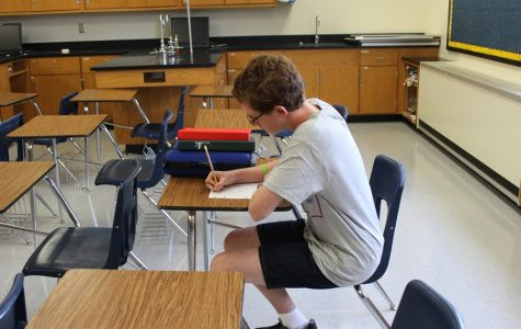 Samuel Gormont is a typical freshman during the first week of high school: nose to the books and hopes high.