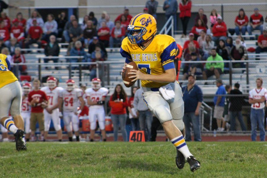 Jarrett Taneyhill continued to set records for the Blue Devils against Everett.