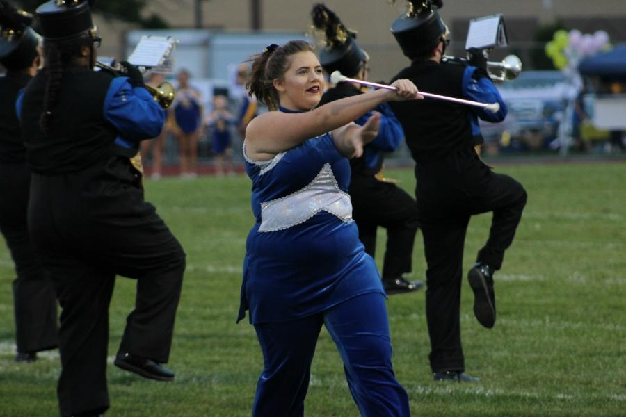 Sophomore Tylar Clemente is one of B-A's twirlers.