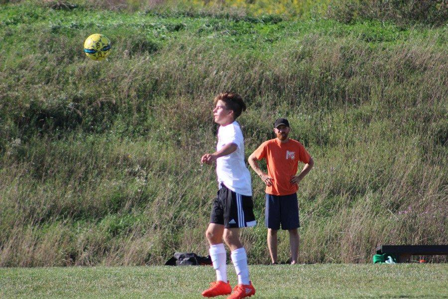 Alex+Schmoke+scored+a+goal+in+the+soccer+teams+win+on+the+road+yesterday+in+Spring+Mills.