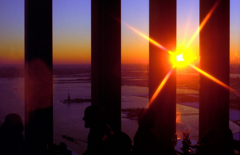 This photo, taken by area native and Philadelphia journalist Bradley Maule, was shot from inside the north tower of the World Trade Center in January, 2001, just nine months before the attacks of 9/11.