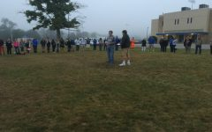 Nathan Davis leads last year's See You at the Pole event.
