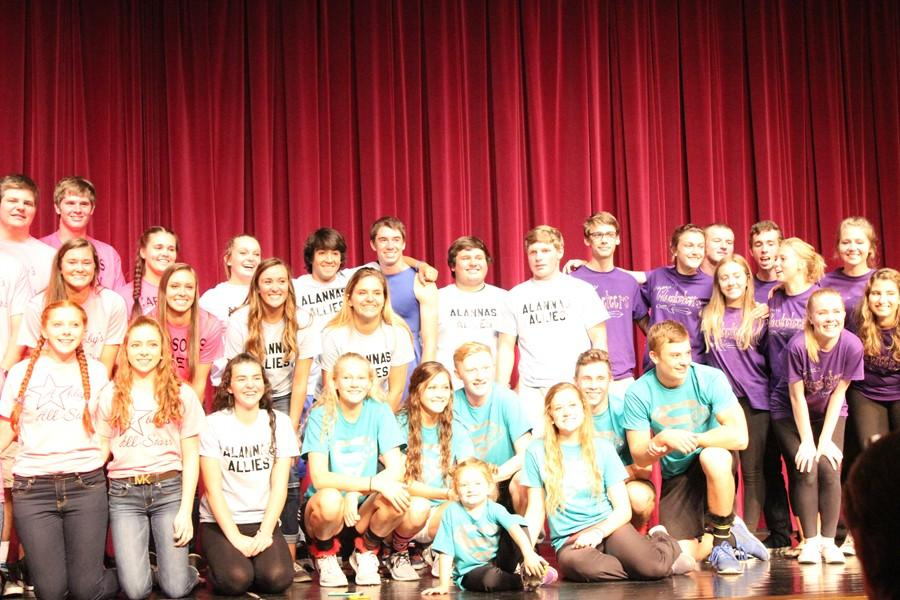 The six Homecoming candidates and their teams put on an amazing show at Skit Night.
