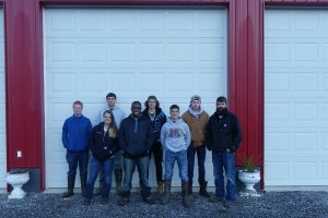 Vocational Agriculture students pose with Mr. Webreck at land judging.