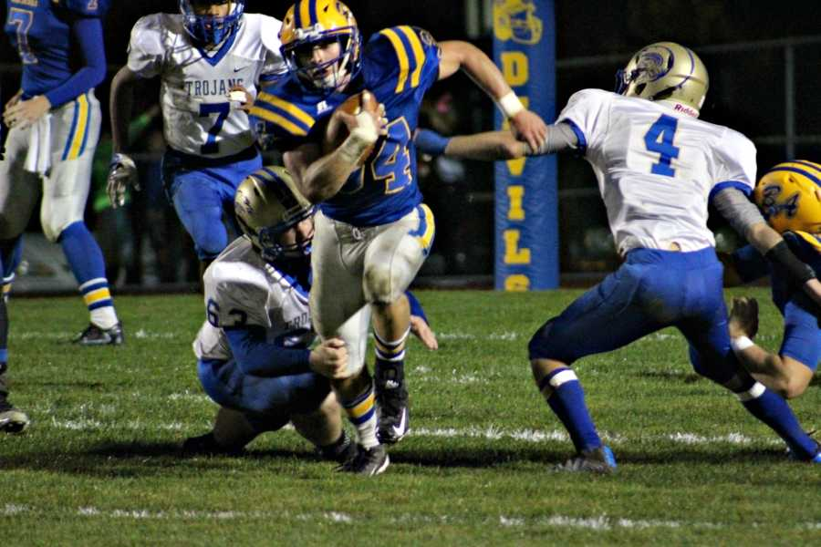 Duke Brunner had his second straight 100-yard game against Mount Union.