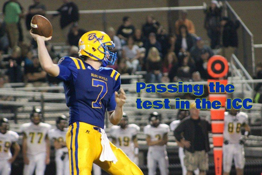 Senior Jarrett Taneyhill  is dominating ICC defenses this year.