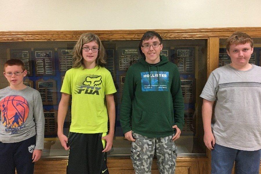 Chance Shreier, Jacob Batts, Ethan Carper and Dominic Daughenbaugh were last weeks BAMS Students of the Week.