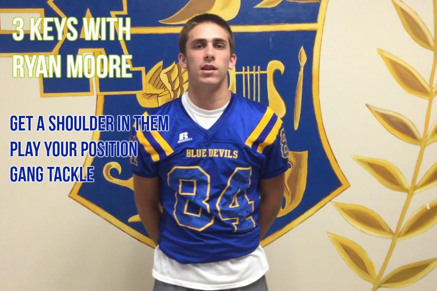 Ryan Moore has three keys to a win over West Branch.