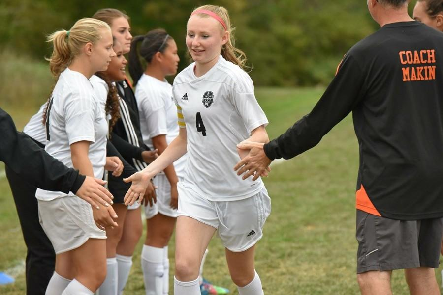 Riley D'Angelo and the girls soccer team got back to their winning ways Saturday.