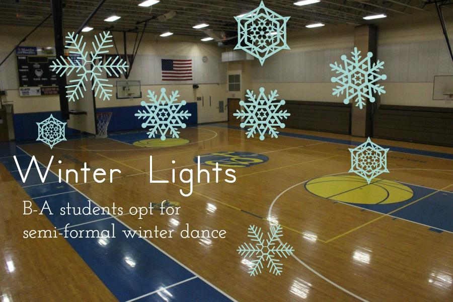 High school students took a vote and chose to have a semi-formal winter dance.