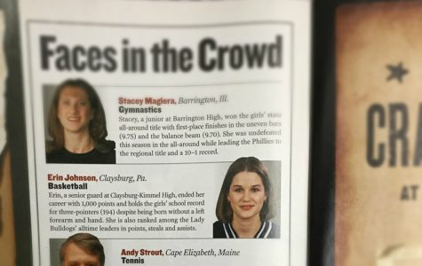 Mrs. Kelly, formally Ms. Johnson, was recognized in high school by Sports Illustrated for her outstanding basketball achievements.