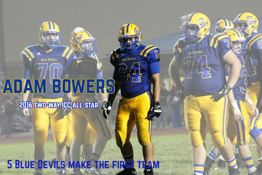 Senior Adam Bowers was one of five Blue Devils to make the ICC all-star first team.