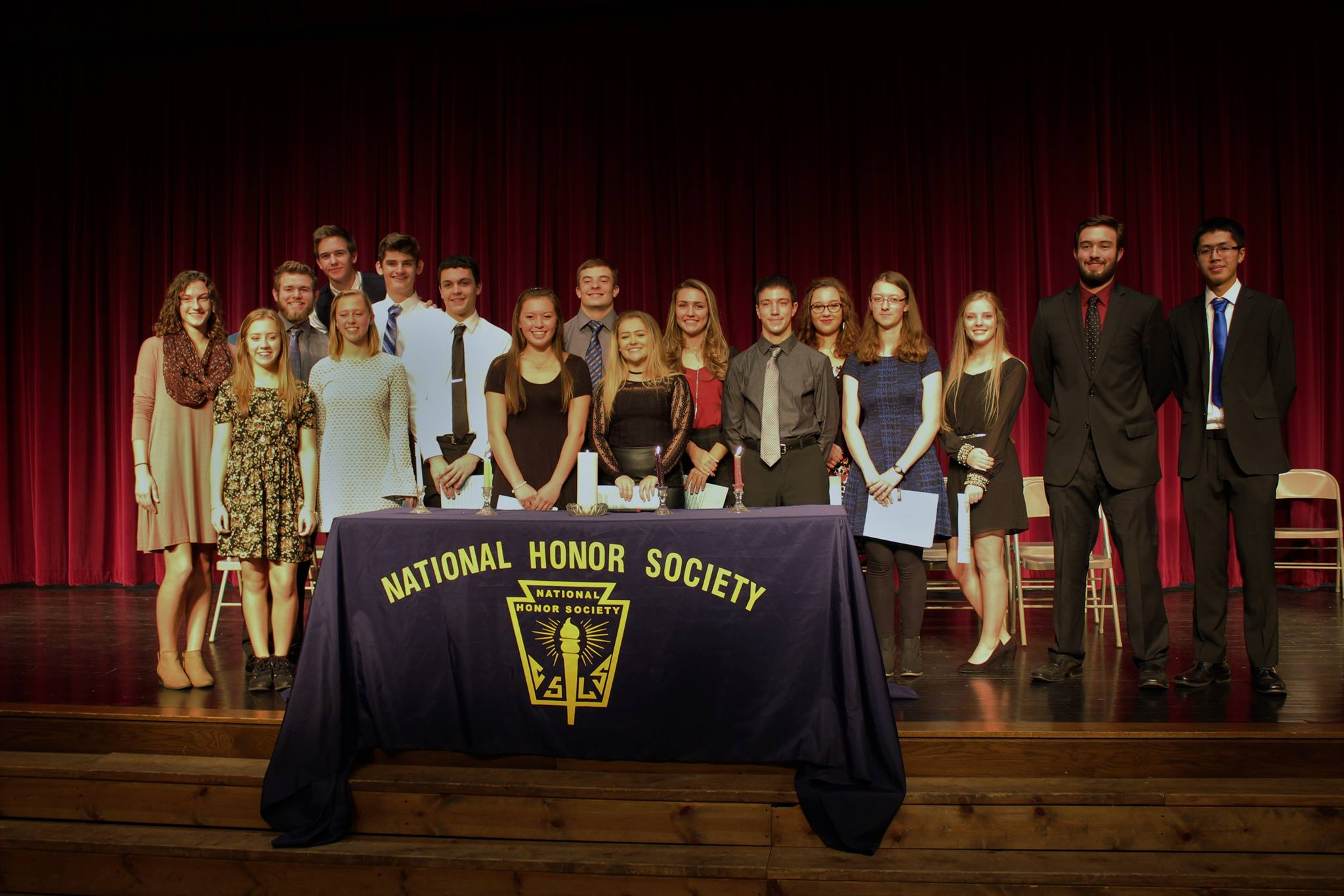 NHS members were inducted at a ceremony last Thursday.