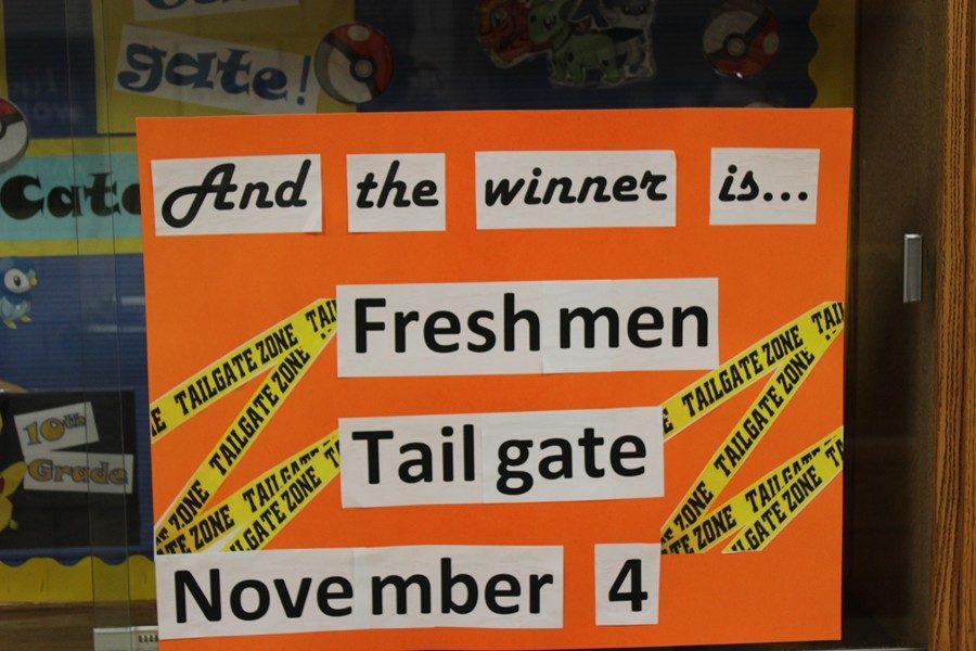 Freshmen Win Nine Weeks Tailgate Party